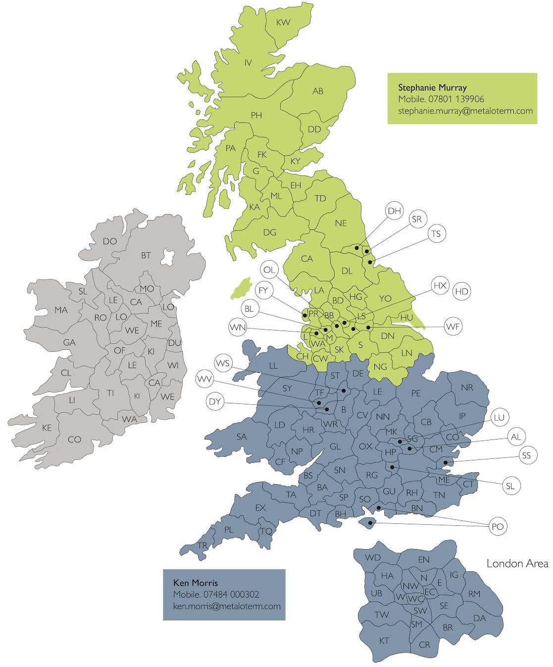 Ontop B.V. UK Account Managers Map